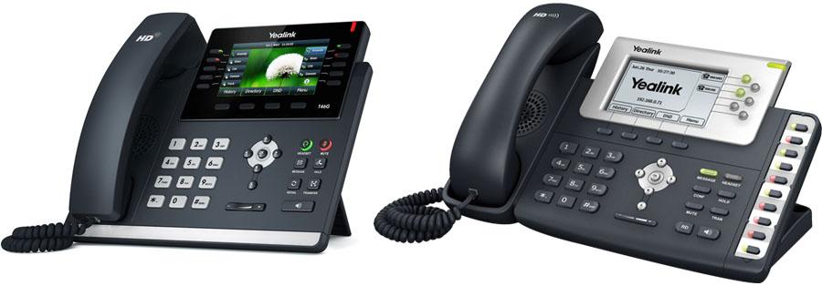Аппаратные SIP-телефоны Yealink