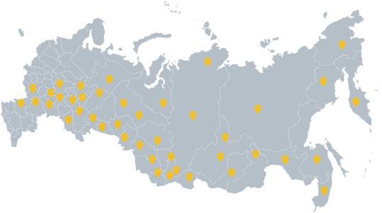 Номера «1ATS» в регионах РФ