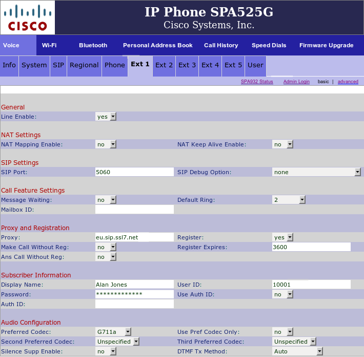 Cisco-SPA303/502G - Ext1